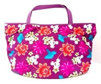 Disney Parks Mickey Mouse Flower Floral Purple Summer Large Tote Bag Hawaiian