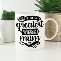 Norwegian Elkhound Mum Mug: Cute gifts for Norwegian Elkhound owners & lovers!