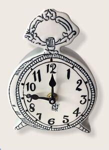 Anthropologie Tick Tock Clock MOLLY HATCH Mint Green