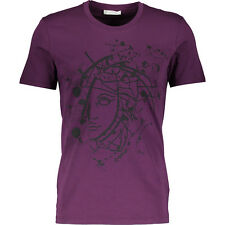 VERSACE COLLECTION Brand Print Violet T-Shirt BNWT