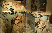 Custom Pet urn for ashes Cat Dogs cremation urn Med memorial 4 sided ceramic DOG