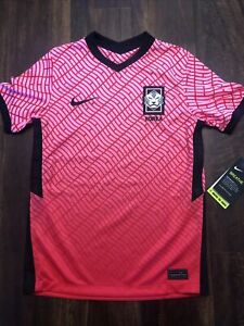 New Nike Korea National Team Youth Soccer Jersey Size Kids Medium Pink Red