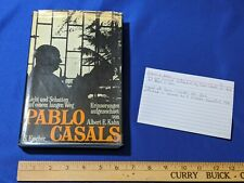 Pablo Casals Book 1971 German Albert E Kahn Joy & Sorrows Reflections VTG Rare