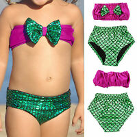 2pcs Ensemble bikini filles Sirène MAILLOT DE BAIN BANDEAU vêtements plage