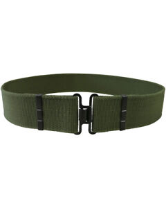 UK BRITISH ARMY STYLE OLIVE GREEN S95 WORKING BELT & CROSS OVER BUCKLE,CADET,MOD
