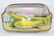 Rare Noritake Hand Painted Landscape Made in Japan Corn Serving Tray Pristine