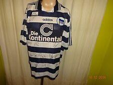 Hertha bsc berlín original adidas hogar camiseta 1997/98 + autografiada talla XL Top
