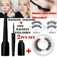 Magnetic Liquid Eyeliner with Magnetic False Eyelashes Easy to Wear Lashes