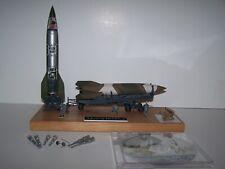 1/69 Revell V-2 Rocket, Trailer, Launch Pad Built, V-2 Shrapnel, Wood Base & Dvd