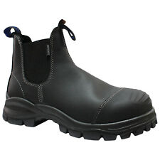 Blundstone 910 Black Mens Leather Chelsea Slip-On Safety Work Boots