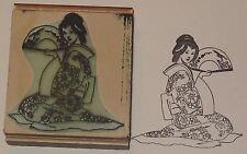 Japanese Woman Kneeling rubber stamp by Amazing Arts wonderful!