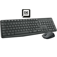 Logitech MK235 Wireless Tastatur + Maus Funk Kabellos Keyboard Deutsches Layout