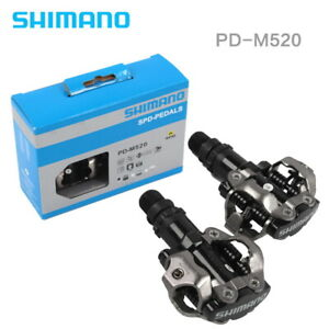 MTB Road Mountain Bike PD-M520 SPD Pedal Bicycle Clipless Pedals w Cleats Black