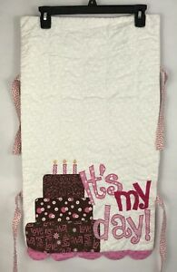 Quilted Happy Birthday Banner Girl It's My Day Baby Girl Celebration Handmade