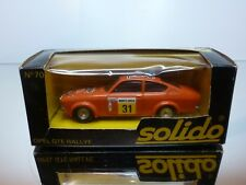 SOLIDO 70 OPEL KADETT GTE RALLYE #31 MONTE CARLO - RED 1:43 - VERY GOOD IN BOX