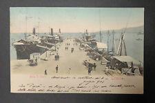 CARTOLINA TRIESTE MOLO S. CARLO VIAGGIATA DEL 1903 SUBALPINA AAA