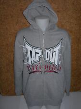Veste / sweat  shirt à capuche, sport, TAPOUT unrivaled Hoody, GRIS en L