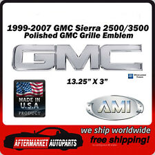 1999-2007 GMC Sierra 3500 Polished Aluminum GMC Front Grille Emblem AMI 96500P