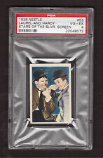 Laurel & Hardy 1936 Nestle Stars of the Silver Screen Card #53 PSA 4 VG-EX