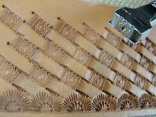 Pro Crafters Series - Small Diamond Basket Weave Stamp (Leather Stamping Tool)