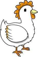 Chicken Hen Cluck Sticker Decal Graphic Vinyl Label