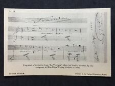 Vintage Postcard - Song Card #16 - British Museum - Verdi