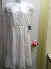 MLLE GRABRIEL Women's Plus Size cotton spring/summer sundress.White/New. 2X