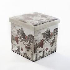 Attrazioni Londra scatola di immagazzinaggio pieghevole Sedile Poggiapiedi Cubo Ottomano CASA UFFICIO