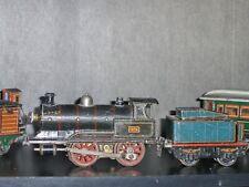 1920's Germany Marklin #326 Gauge 1  20 volt Electric Locomotive, Tender, 2 Cars