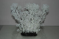 Aquarium White Coral Fern Type Plastic Plant with Weighted Base 10 x 7 x 20 cms