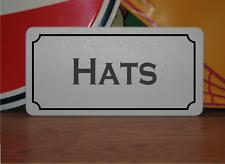 Hats Metal Sign Vintage Style Design
