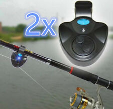 4X glühen sie Fishing Rod Alarmglocke Fisch beißen Warnung Nacht Angeln ZubehörQ