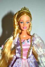Barbie Fairytale Princess Rapunzel Doll, Magical Growing Hair,Musical Hairbrush