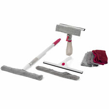 Kleeneze COMBO-4211 Window Cleaning Set with Spray Cleaner & Microfibre Cloths