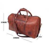 "Buffalo Leather Duffle Bag Overnight Travel AirCabin Carryon Luggage Handbag 20"""