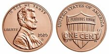 2020 D Lincoln Shield Cent BU from New Bank Roll Penny