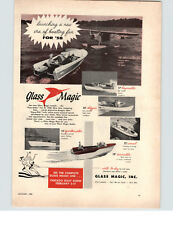 1958 PAPER AD Glass Magic Inc Motor Boat 14' Skipper 15' Sportsmaster 17' Bay