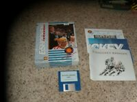 Eishockey Manager Commodore Amiga with box, manual and poster
