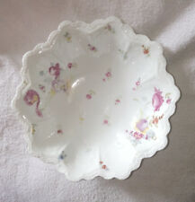 Vintage O&EG ROYAL AUSTRIA Bowl Dish with Hand Painted Flowers.