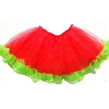 TEENS AND ADULTS TUTU WATERMELON RED WITH GREEN Party Skirt USA Seller