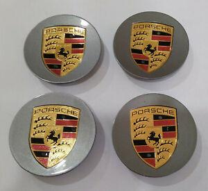 Porsche 911 Carrera Center Caps Panamera Boxster Cayenne DARK GRAY set of 4