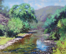 Williwa Ck River Painting Portland NSW Large Original oil by Graham Gercken