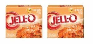 Jell-O Peach Gelatin Dessert Mix 2 Box Pack