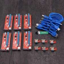 6x USB 3.0 Pci-e Express 1x to 16x Extender Riser Card Adapter BTC GPU Miner