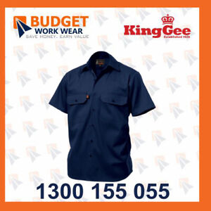 King Gee Sleeve Open Front Drill Shirt - 100% Cotton Drill ( K04030)