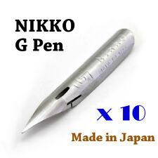 10 x Nikko G pen nib for Copperplate, Spencerian writing, Manga & Comic drawing