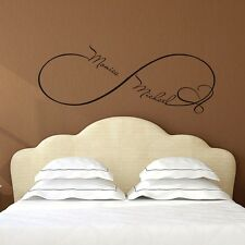 Infinity Wall Decals Heart Decal Family Names Vinyl Stickers Bedroom Decor FD49