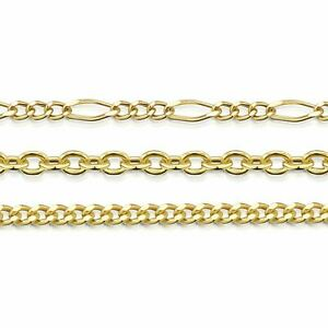 Amberta Genuine 9k Yellow Gold Chain Solid Adjustable Necklace Made in Italy