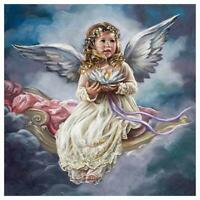 5D DIY Full Drill Diamond Painting Small Angel Cross Stitch Kits Art Wall Decors