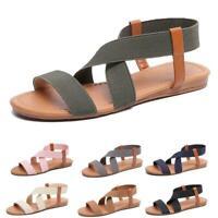Women's Sandals Fashion Summer Beach  Sandal Roman Sandal Toe Open Flat
